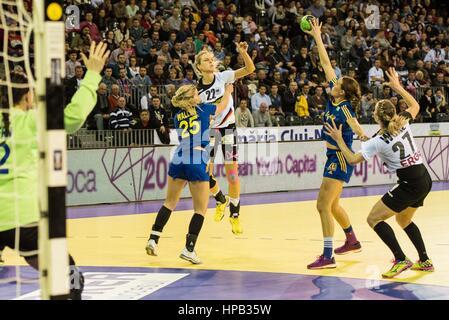 March 20, 2015: Worez Nina #27, Susan Muller #22 of Germany National Team, Wallen Angelica #25  and Weteberg Johanna - Stock Photo