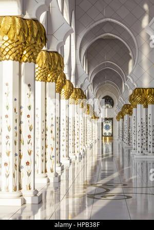 Scheich Zayid Moschee, Abu Dhabi, VAE - Stock Photo