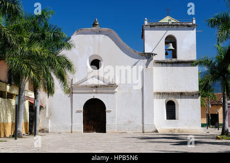 Honduras, View on the colonial San Fransisco church in Comayagua city in In Middle America - Stock Photo