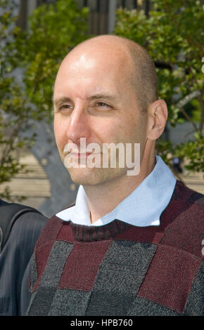 Kevin Kachikian, a co-defendent in the Anthony Pellicano trial, leaves Federal Court in Los Angeles, CA on Wednesday, - Stock Photo