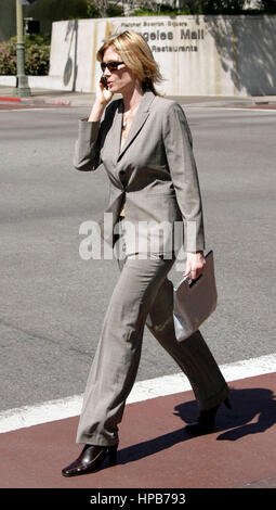 Erin Finn, a witness in the Anthony Pellicano trial, leaves Federal Court in Los Angeles, CA on Tuesday,  March - Stock Photo