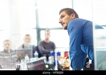 Business presentation on corporate meeting. - Stock Photo