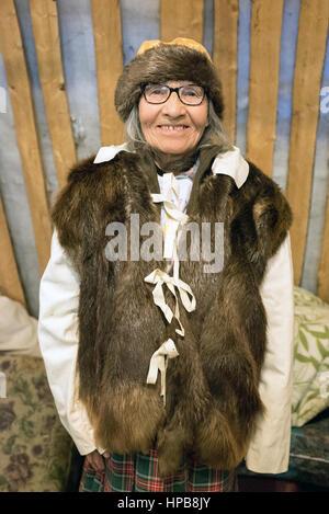 Indigenous Elderly Quebec - Stock Photo