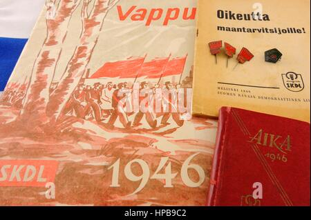 The Communist Party was banned from 1930 to 1944 in Finland. The Finnish Communist Party's leaders were exile in - Stock Photo