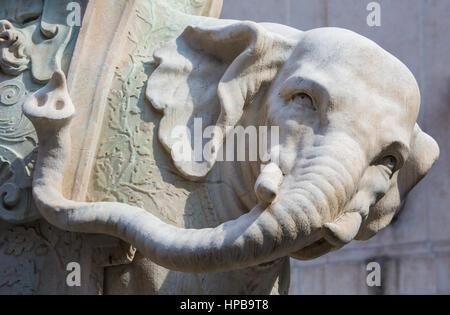 Bernini's 'Little Elephant' in Piazza della Minerva  Rome, Lazio, Italy, Europe - Stock Photo