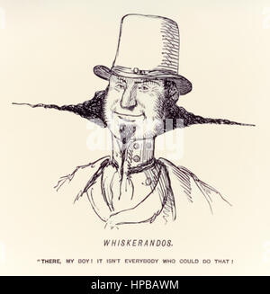 """Whiskerandos – ""There, my boy! It isn't everybody who could do that!"""" illustration by John Leech (1817-1864) published - Stock Photo"