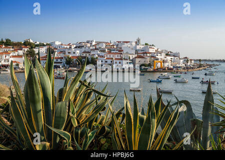 Portugal Algarve Ferragudo village - Stock Photo