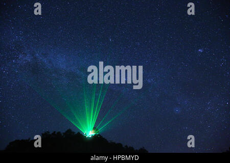 Milky Way over the Observatory - Stock Photo