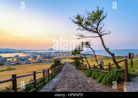 Jeju-Do Seongsan Ilchulbong, Jeju Island, South Korea - Stock Photo