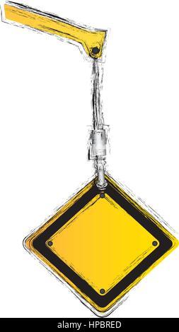 crane hook holding tools blank warnings image - Stock Photo