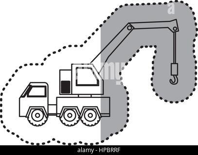 figure car crane icon - Stock Photo