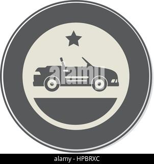 car sport vehicle icon - Stock Photo