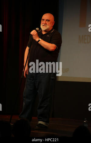 London, UK. 20th February, 2017. Alexei Sayle performing at a fund-raising event for the charity Medical Aid for - Stock Photo