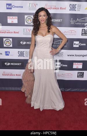 Hollywood, California. 19th Feb, 2017. Sofia Milos attends the 12th Edition of The Los Angeles Italia Film, Fashion - Stock Photo