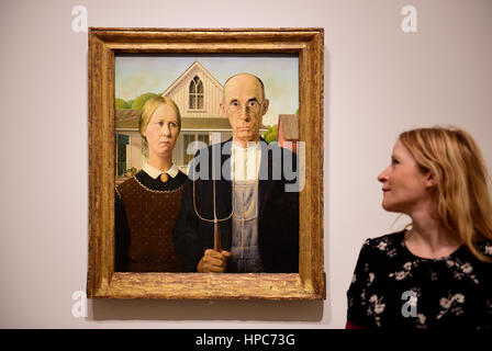 Royal Academy, London, UK. 21st Feb, 2017. America after the Fall: Painting in the 1930's, an exhibition chronicling - Stock Photo