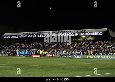 Sutton, UK. 20th February 2017. General view during the FA Cup Fifth Round match between Sutton United and Arsenal - Stock Photo