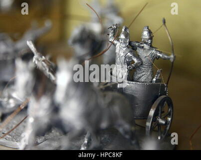 St Petersburg, Russia. 21st Feb, 2017. Tin figures at the Niena Studio. The studio specialises in manufacturing - Stock Photo