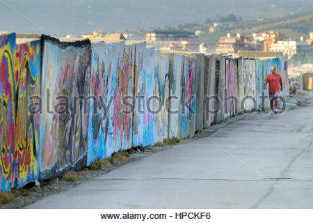 murales,san benedetto del tronto,italy - Stock Photo