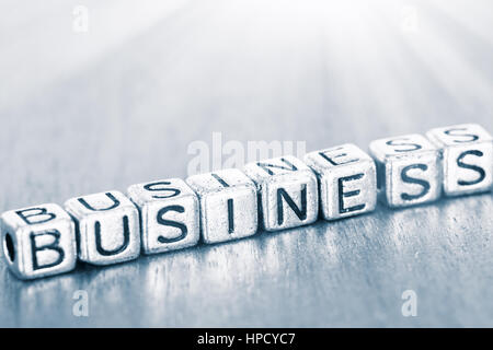Business letters placed on a desk in precious wood - Stock Photo