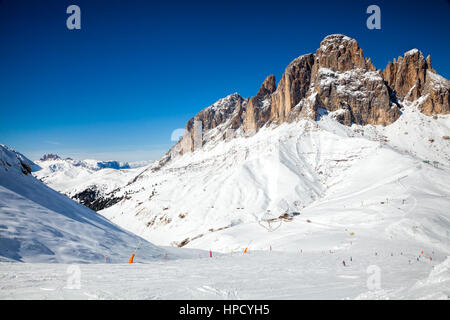 View of a ski resort area in Italy - Stock Photo