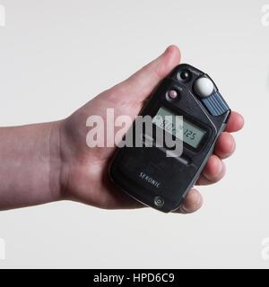 Sekonic Lightmeter used for Photography - Stock Photo