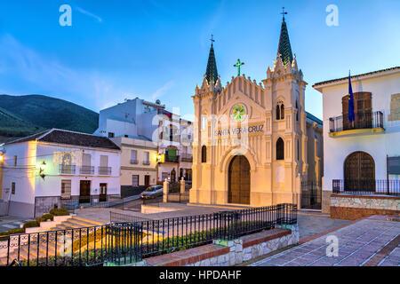 Church of Santa Vera Cruz in the evening in Alhaurin el Grande, Malaga province, Andalusia, Spain - Stock Photo