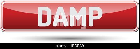 DAMP - Abstract beautiful button with text. - Stock Photo