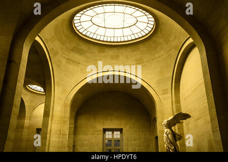 Interior of Museum Louvre - Stock Photo