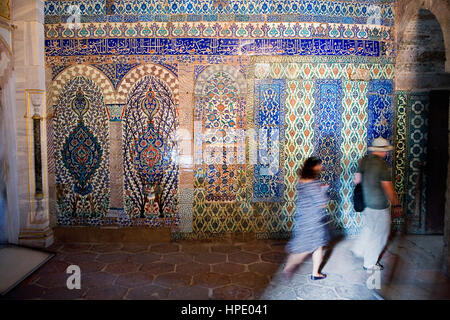 Topkapi Palace, Harem. Corridor between Imperial Hall and Courtyard of Favourites .Istanbul, Turkey - Stock Photo