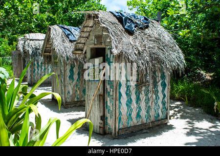 Toilets on Mystery Island Vanuatu - Stock Photo