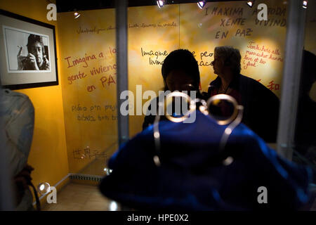 The Beatles Story exhibition. Albert Dock. Liverpool. England. UK - Stock Photo