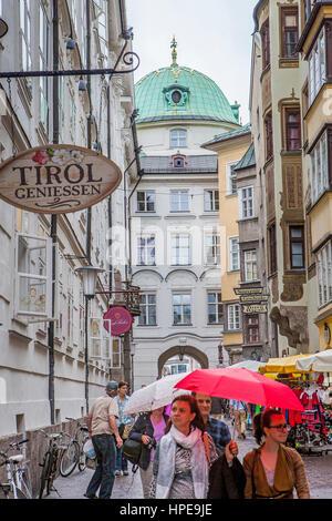 Hofgasse street, Innsbruck, Austria - Stock Photo