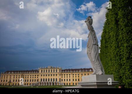 Schönbrunn Palace, Vienna, Austria, Europe - Stock Photo