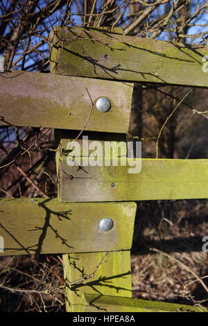 Wooden Fence Post joints - Stock Photo
