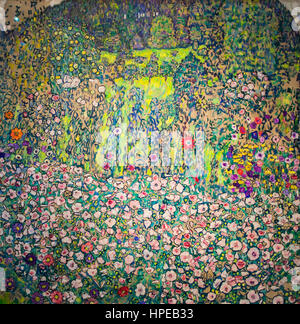 Garden landscape with rounded mountaintop,Gustav Klimt,Leopold Museum,Vienna, Austria, Europe - Stock Photo