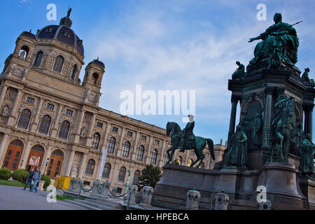 Maria Theresien monument at Maria Theresien platz in front of Kunsthistorisches Museum (Museum of Art History),Vienna, - Stock Photo