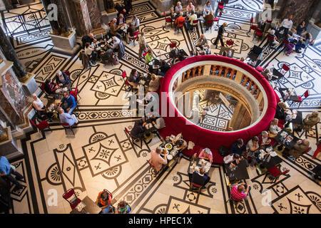 Cafe of Kunsthistorisches Museum,history museum of art, Vienna, Austria, Europe - Stock Photo
