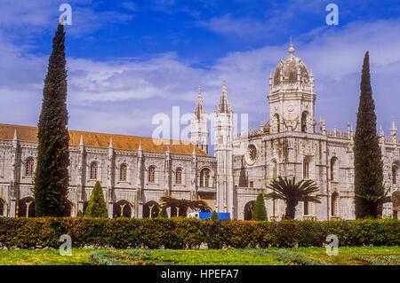 Jeronimos monastery,Belem, Lisbon, Portugal. - Stock Photo