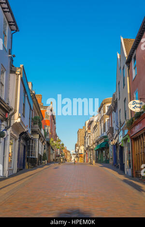 Bury St Edmunds Suffolk, Abbeygate Street in the medieval centre of Bury St Edmunds, UK. - Stock Photo