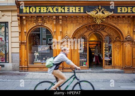 Hofbaeckerei Edegger-Tax in Hofgasse, court bakery, Graz, Austria, Europe - Stock Photo
