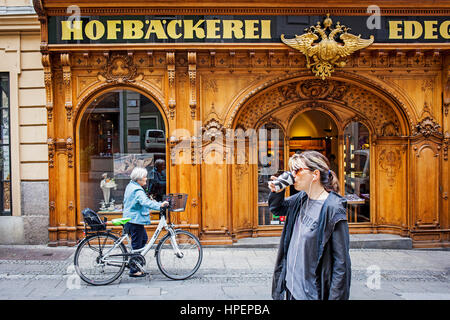 Hofbaeckerei Edegger-Tax in Hofgasse, court bakery, Graz, Austria, Europe - Stock Photo