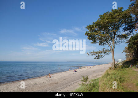 Rostock-Warnemünde, steep bank and beach - Stock Photo