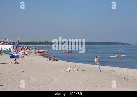 Rostock-Warnemünde, beach - Stock Photo