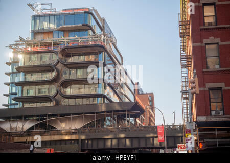 Construction of the Zaha Hadid designed condo along the High Line in West Chelsea in New York on Monday, February - Stock Photo
