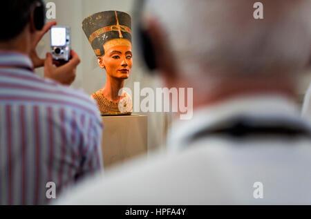 Museum Island.Neues Museum . Nefertiti.Egyptian art. Berlin. Germany - Stock Photo