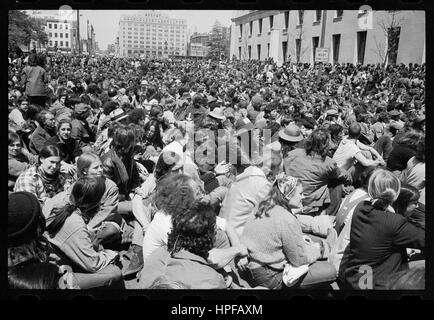 Anti-Vietnam War demonstration at the Justice Department, Washington, DC, 4/30/1971. Photo by Warren K Leffler - Stock Photo