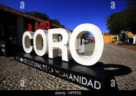 February 17, 2017 - Santa Ana  De Coro, Falcon, Venezuela - La ciudad de Santa Ana de Coro, mejor conocida como - Stock Photo