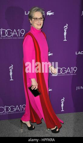 Beverly Hills, CA. 21st Feb, 2017. Meryl Streep at arrivals for 19th CDGA (Costume Designers Guild) Awards Presented - Stock Photo