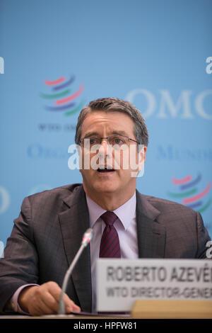 Geneva, Switzerland. 22nd February, 2017. Geneva, Switzerland. 22nd Feb, 2017. The World Trade Organization (WTO) - Stock Photo