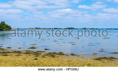 France, Brittany (Bretagne), Morbihan department, Golfe du Morbihan. - Stock Photo